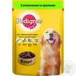 Dog food Pedigree with beef and rabbit 100g