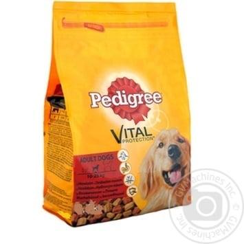 Корм сухий для дорослих собак Pedigree яловичина птиця 8,4кг