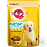 Корм для щенков Pedigree с курицей и рисом в желе 100г