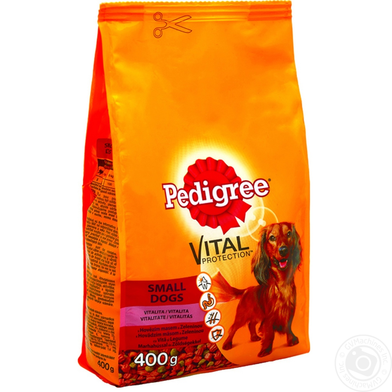 Dry dog food Pedigree with beef and vegetables 400g