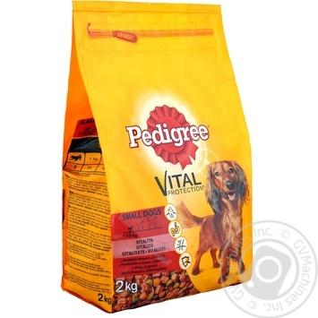 Корм сухой Pedigree для малых собак говядина овощи 2кг