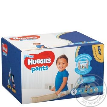 Подгузники-трусики Huggies для мальчиков 5 12-17кг 68шт/уп - купить, цены на Метро - фото 1
