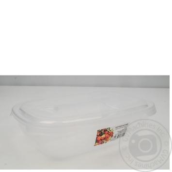 Контейнер Ал-Пластик пищевой овальный 2л - купить, цены на Таврия В - фото 3