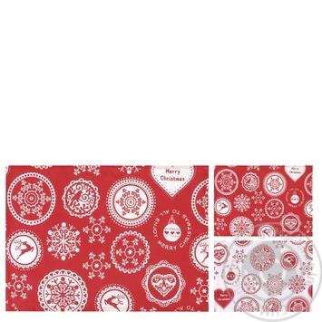 Скидка на Подкладка для посуды с принтом Снежинки, 100% хлопок