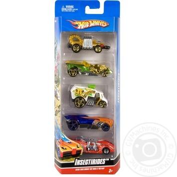 Подарочный набор автомобилей Hot Wheels 5шт - купить, цены на Novus - фото 1