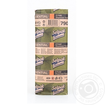 Selpak Professional Paper towels one-layer 250 sheets - buy, prices for Metro - image 2