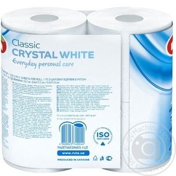 Ruta Crystal Toilet Paper White 4pcs - buy, prices for MegaMarket - image 3