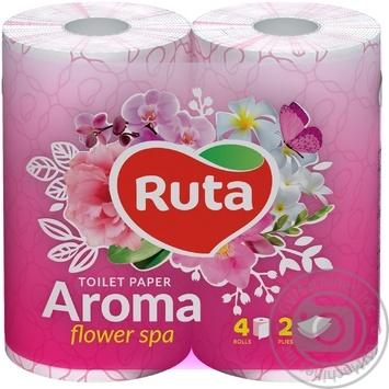 Бумага туалетная Ruta Aroma Весенний Цвет розовая 2-слойная 4шт