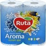 Бумага туалетная Ruta Aroma Фиалка голубая 2-слойная 4шт