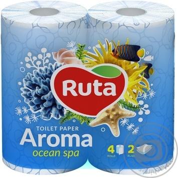 Toilet paper Ruta Aroma Violet blue 2-ply 4pcs