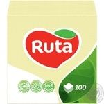 Paper napkins Ruta yellow 1-ply 24*24cm 100pcs