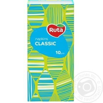 Платки носовые Ruta белые бумажные 3-слойные 20*19см 10шт - купить, цены на Novus - фото 1