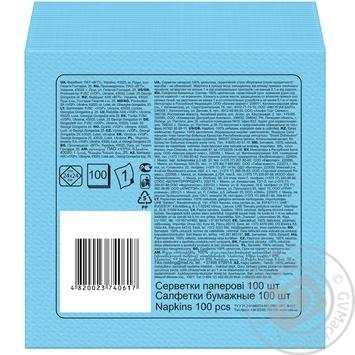 Paper napkins Ruta pink 1-ply 24*24cm 100pcs - buy, prices for  Vostorg - image 7