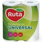 Paper towels Ruta Universal white 2-ply 2pcs