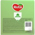 Серветки Ruta Колор зелені паперові 3-шарові 33*33см 20шт - купити, ціни на МегаМаркет - фото 2