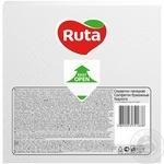Серветки Ruta Колор білі паперові 3-шарові 33*33см 20шт - купити, ціни на ЕКО Маркет - фото 2