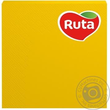 Серветки Рута 33х33 20шт 3-х шар кольорові в асортименті столові