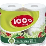 Toilet paper 100% Paper white 2-ply 4pcs