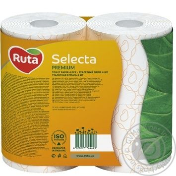 Ruta Select Toilet Paper Three-layer Chamomile 4pcs - buy, prices for MegaMarket - image 3