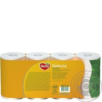 Папір туалетний Ruta Selecta білий з ароматом ромашки 3-шаровий 8шт - купити, ціни на Novus - фото 2