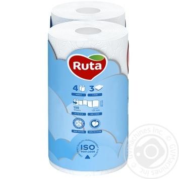 Ruta Toilet Paper Pure White three-layer 4pcs - buy, prices for Novus - image 3
