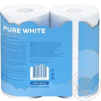 Ruta Pure Toilet Paper Three-layer White 4pcs - buy, prices for MegaMarket - image 2