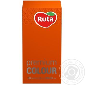 Салфетки Ruta Premium Colour оранжевые 30шт/уп