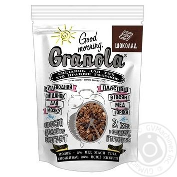 Сухой завтрак Good morning Granola шоколад 330г - купить, цены на МегаМаркет - фото 1