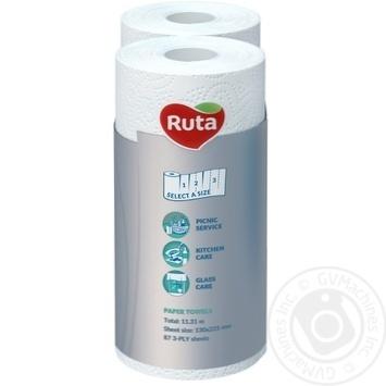Полотенца бумажные Рута Софт&Стронг белые 3сл 2шт - купить, цены на Novus - фото 3
