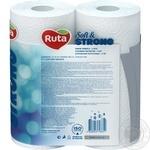 Рушники паперові Рута Софт&Стронг білі 3шар 2шт - купити, ціни на Метро - фото 4
