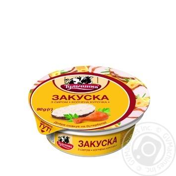 Закуска Тульчинка с сыром копченая курица 90г