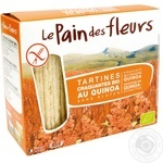 Хлібці органічні хрусткі з кіноа без глютену Le Pain des fleurs 150г