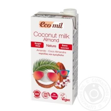 Рослинне молоко Ecomil Кокос-мигдаль без цукру органічне 1л - купити, ціни на Novus - фото 1