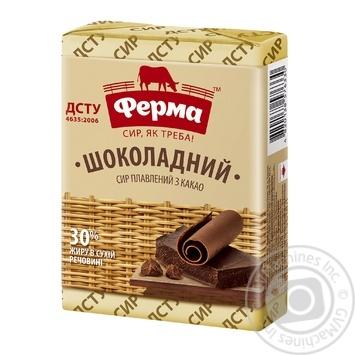 Сыр плавленный ферма шоколадный 30% 90г - купить, цены на Фуршет - фото 1