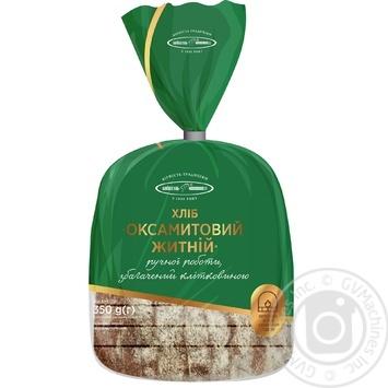 Хлеб Киевхлеб Бархатный ржаной половина нарезка 350г - купить, цены на Novus - фото 1
