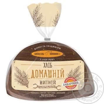 Хлеб Киевхлеб Домашний ржаной половина нарезка 450г - купить, цены на Novus - фото 1