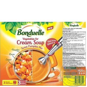Овощи Bonduelle для крем супа Тыквенный 400г - купить, цены на Novus - фото 2