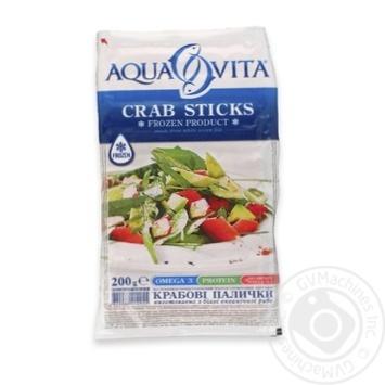 Крабовые палочки Aqua Vita замороженные 200г - купить, цены на Ашан - фото 2