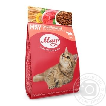 Корм сухой Мяу! для взрослых котов С мясом 400г