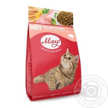 Корм сухой Мяу! для взрослых котов С кроликом 400г - купить, цены на Ашан - фото 1