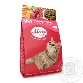 Корм сухой Мяу! для взрослых котов С телятиной 400г