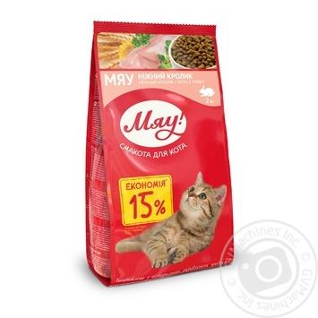 Корм сухой Мяу! для взрослых кошек С кроликом 2кг