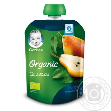 Gerber organic for children pear puree 90g