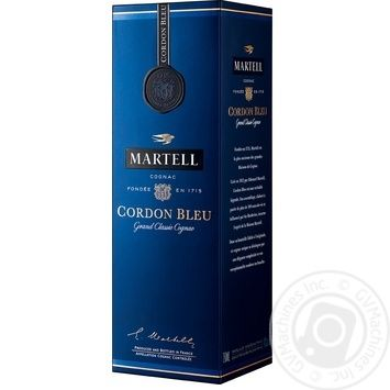Martell Cordon Bleu Cognac 700ml gift box - buy, prices for Novus - image 3