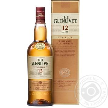Віскі The Glenlivet Excellence 12 років 40% 0,7л - купити, ціни на Novus - фото 1