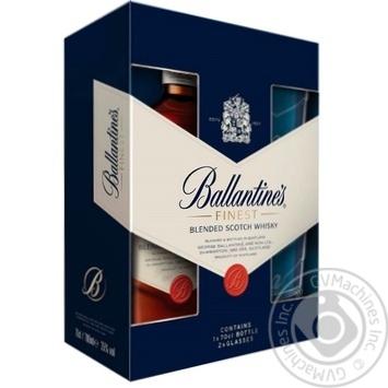 Виски Ballantine's Finest 40% 0,7л + 2 бокала - купить, цены на МегаМаркет - фото 2