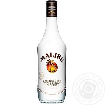 Ликер Malibu 21% 1л - купить, цены на Фуршет - фото 1