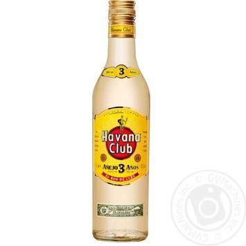 Havana Club Anejo 3 Yrs Rum 40% 0.5l - buy, prices for CityMarket - photo 1
