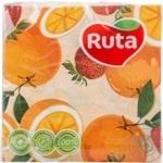 Салфетки бумажные сервировочные Ruta Art Кухня Микс 20шт