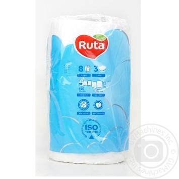 Ruta Pure Toilet Paper Three-layer White 8pcs - buy, prices for CityMarket - photo 8